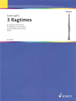 3 Ragtimes (for Clarinet and Piano) (HL-49017556)