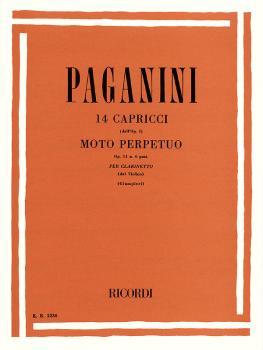 14 Capriccos, Op. 11, No. 6 (Moto Perpetuo) (Clarinet and Piano) (HL-50010030)