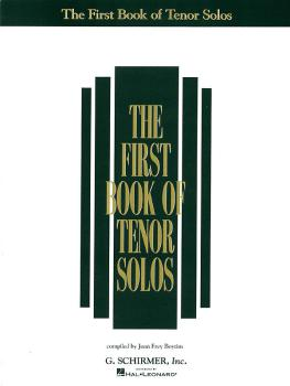 The First Book of Tenor Solos (HL-50481175)