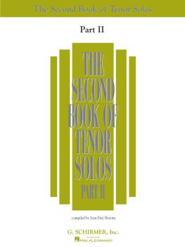 The Second Book of Tenor Solos Part II (Book Only) (HL-50485223)