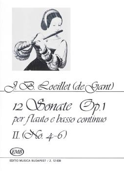 12 Sonatas for Recorder (Flute) and Basso Continuo Op. 1 Volume 2 (HL-50485307)