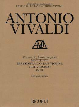 Vos Invito, Barbarae Faces Motet, RV 811: Contralto, 2 Violins, Viola, (HL-50490065)