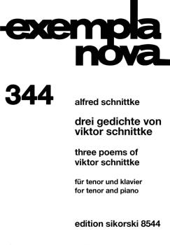 3 Poems of Viktor Schnittke (Tenor and Piano) (HL-50490686)