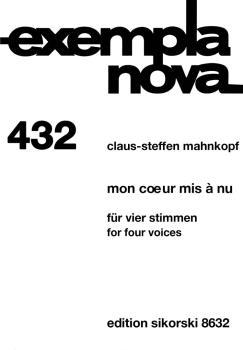 Mon coeur mis à nu (Four Voices Score) (HL-50490696)