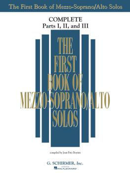 The First Book of Solos Complete - Parts I, II and III (Mezzo-Soprano/ (HL-50498742)