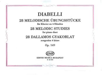 28 Melodic Exercises Op. 149 (One Piano, Four Hands) (HL-50511457)