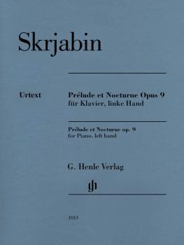 Prélude et Nocturne, Op. 9 (For Piano, left hand) (HL-51481013)
