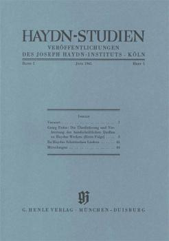 Juni 1965: Haydn Studies Volume I, No. 1 Paperbound (HL-51482000)