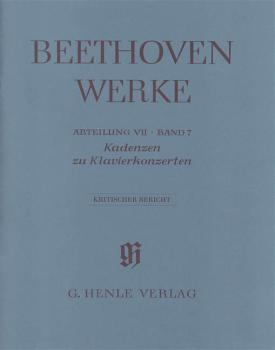 Cadenzas in the Piano Concertos: Beethoven Complete Edition, Abteilung (HL-51484293)