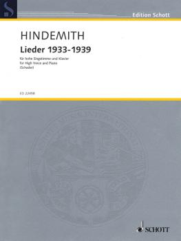 Lieder 1933-1939 (for High Voice and Piano) (HL-49045019)