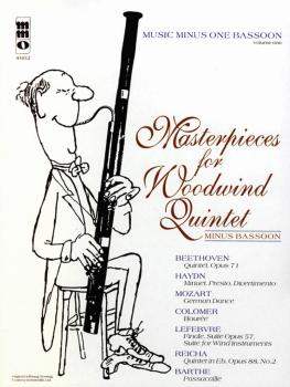Masterpieces for Woodwind Quintet - Volume 1: Music Minus One Bassoon (HL-00400513)