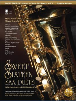 Sweet Sixteen Sax Duets: Music Minus One Alto or Tenor Sax Deluxe 2-CD (HL-00400606)