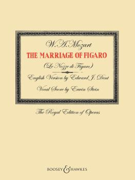 The Marriage of Figaro: English Version by Edward J. Dent Vocal Score  (HL-48022750)