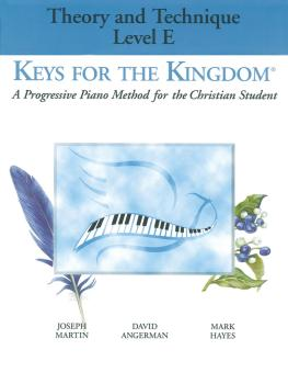 Keys for the Kingdom - Theory and Technique (Level E) (HL-35012030)