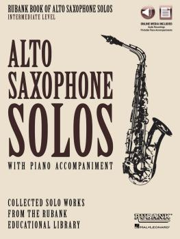 Rubank Book of Alto Saxophone Solos - Intermediate Level: Book with On (HL-00160730)