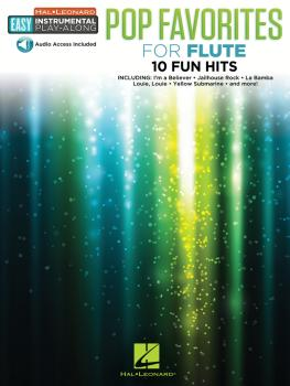 Pop Favorites: Flute Easy Instrumental Play-Along Book with Online Aud (HL-00232231)