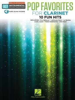 Pop Favorites: Clarinet Easy Instrumental Play-Along Book with Online  (HL-00232232)