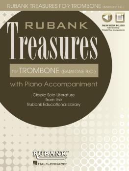 Rubank Treasures for Trombone (Baritone B.C.): Book with Online Audio  (HL-00121448)
