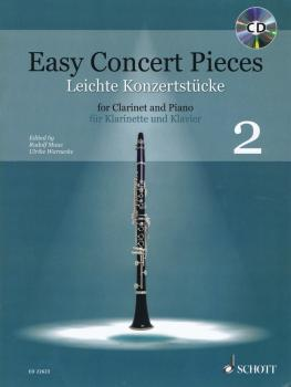 Easy Concert Pieces, Book 2: 22 Pieces from 4 Centuries/Clarinet and P (HL-49045759)