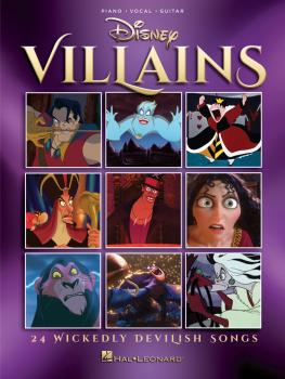 Disney Villains: 24 Wickedly Devilish Songs (HL-00248638)