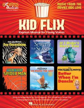 Kid Flix: Music from the Movies Kids Love: Express Musical for Young V (HL-00259562)