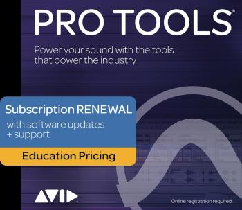 Pro Tools - 1-Year Subscription Renewal: Education Pricing - 1-Year Pe (HL-00249807)