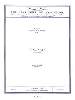 4th Sonata: Saxophone Classics No. 91 Alto Saxophone and Piano (HL-48181366)