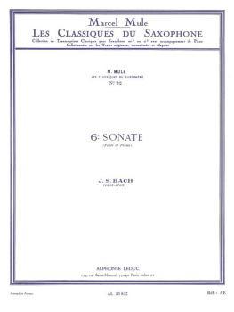 6th Sonata: Saxophone Classics No. 92 Alto Saxophone and Piano (HL-48181367)
