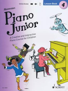 Piano Junior: Lesson Book 4 (Book/Online Audio) (HL-49045913)