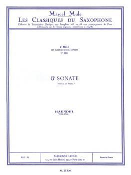 6e Sonate de Haendel [6th Sonate of Handel] (for Saxophone and Piano) (HL-48181365)