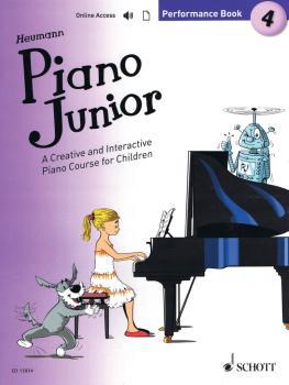 Piano Junior: Performance Book 4 (Book/Online Audio) (HL-49045915)