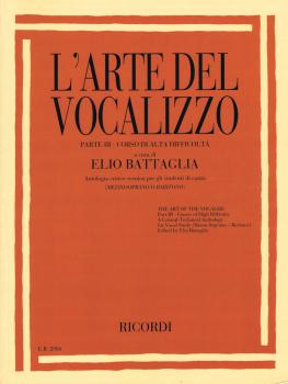 L'arte Del Vocalizzo Part Iii (mezzo-bari) Critical-technical Antholog (HL-50601356)