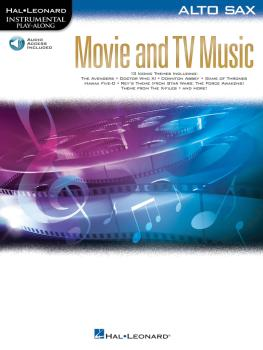 Movie and TV Music for Alto Sax: Instrumental Play-Along® Series (HL-00261809)
