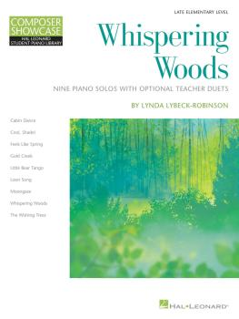 Whispering Woods: Composer Showcase Series 9 Piano Solos with Optional (HL-00275905)