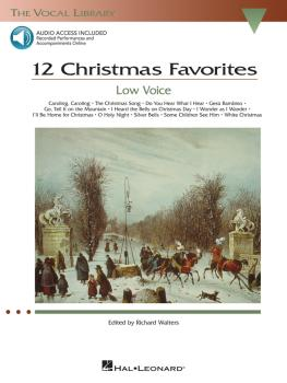 12 Christmas Favorites - Low Voice: The Vocal Library Low Voice (HL-00000385)