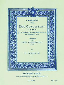 Duo Concertant: Transcription pour Deux Clarinettes (HL-48180012)