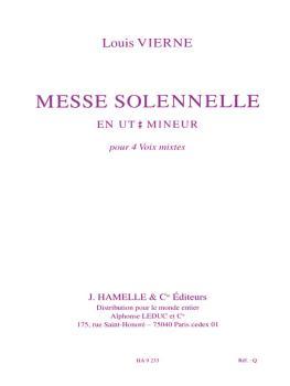 Messe Solennelle Ut Diese Min. Partie De Choeur Sans Accompagnement (HL-48186939)