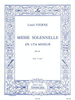 Messe Solennelle en ut Dièse Mineur pour chant et deux orgues (SATB wi (HL-48186940)