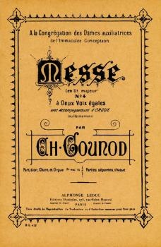 Messe No. 4 (for 2 Voices and Organ) (HL-48180035)