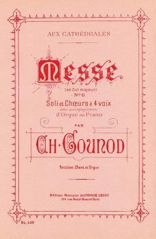 Messe No. 6, G Major (for Voice and Organ) (HL-48180037)