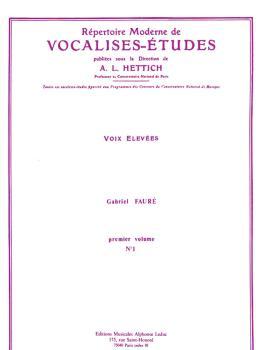 Répertoire Moderne de Vocalises-Etudes (High Voice and Piano) (HL-48180045)