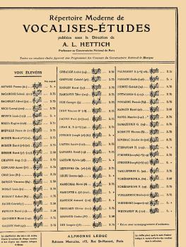 Répertoire Moderne de Vocalises-Etudes (for High Voice and Piano) (HL-48180046)