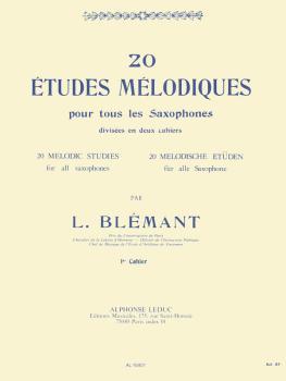 20 Etudes Mélodiques pour tous les Saxophones - Volume 1: [20 Melodic  (HL-48180103)