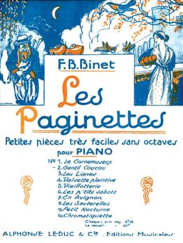 Les Paginettes - Gentil Coucou (for Piano Solo) (HL-48180148)