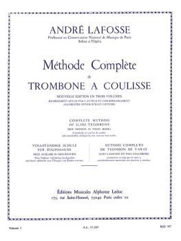 Méthode Complete de Trombone A Coulisse - Volume 1: [Complete Method o (HL-48180303)