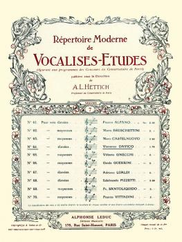 Vocalise-Etude pour Voix Elevees (for High Voice and Piano) (HL-48180343)