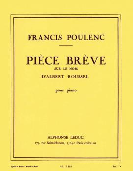 Piece Breve Sur Le Nom d'Albert Roussel (for Piano Solo) (HL-48180355)