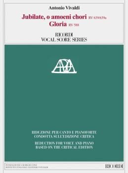 Jubilate, O Amoeni Chori RV639/RV639a & Gloria RV588: Vocal Score base (HL-50601408)