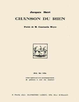 Chanson du Rien (for Medium Voice and Piano) (HL-48180439)