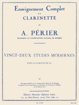 Enseignement Complet de la Clarinette - Vingt-Deux Etudes Modernes: [C (HL-48180458)